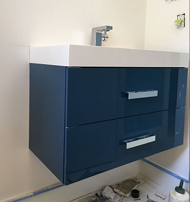 Electric Blue Decotec Vanity
